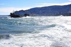 Isola Bella, sjö (lagoen) Maggiore, Italien Starkt linda Royaltyfria Bilder