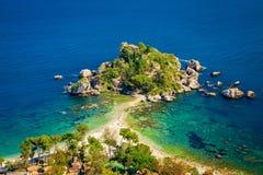 Isola Bella at Taormina. Beach and island Isola Bella at Taormina, Sicily stock photography