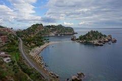 Isola Bella , Taormina, Italy. Italian Island in Sicily stock images