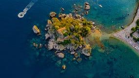 Isola Bella, Taormina! fotografia royalty free