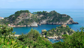 Isola Bella, Taormina, Sicília imagens de stock royalty free