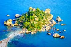 Isola Bella - Taormina, Sicília, Itália fotografia de stock