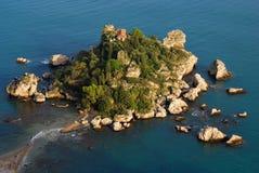 Isola Bella (Taormina/Sicilië) stock foto's