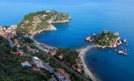 Isola Bella, Taormina, Sicilië Stock Foto
