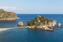 Isola Bella, Taormina, Sicilia imagen de archivo