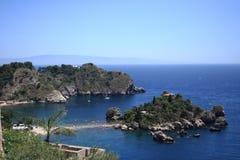 Island Isola Bella Taormina, sicily Stock Image