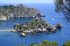 Island Isola Bella Taormina, sicily Royalty Free Stock Photos