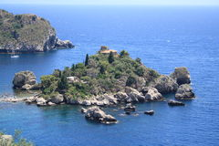Island Isola Bella Taormina, sicily Stock Photography