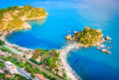 Isola Bella - Taormina, Sicilien, Italien royaltyfri bild