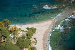 Isola Bella - Taormina, Sicily. Isola Bella as seen from Taormina, Sicily stock photo