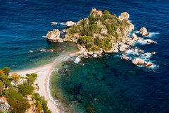 Isola Bella - Taormina, Sicily. Isola Bella as seen from Taormina, Sicily stock photography