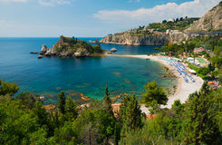 Isola Bella - Taormina, Sicily. The beach near Isola Bella - Taormina, Sicily stock photos