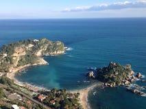 Isola Bella Taormina Sicily Italy Arkivbild