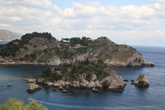 `isola bella` in Taormina. Wonderful landscape and sea in Italy Stock Image
