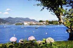 Isola Bella van de kust van Stresa-stad wordt gezien die Royalty-vrije Stock Afbeelding