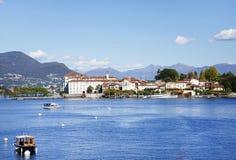 Isola Bella van de kust van Stresa-stad wordt gezien die Stock Afbeeldingen