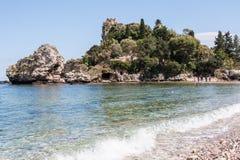 Isola Bella, vicino a Taormina, la Sicilia, Italia Fotografie Stock Libere da Diritti