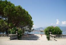 Isola bella villa and garden Stock Photos