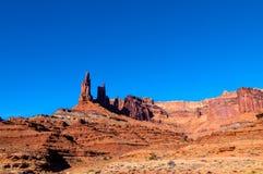 Isola bianca di Canyonlands NP della strada dell'orlo nel cielo Utah Fotografie Stock