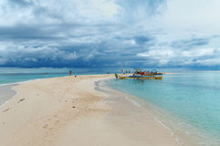 Isola bianca (isola) di Medano, Filippine immagini stock libere da diritti