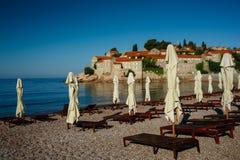 Isola in Budva, Montenegro di Sveti Stefan Immagini Stock Libere da Diritti