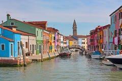 Isola Burano Italia di Venezia Fotografie Stock Libere da Diritti