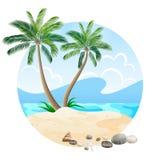Isola colorata isolata su bianco Fotografie Stock