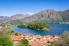 Isola Comacina Lago二科莫 库存照片