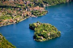Isola Comacina nel Lago di Como Stock Photo