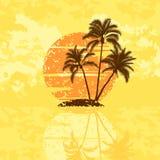 Isola con le palme Immagini Stock Libere da Diritti