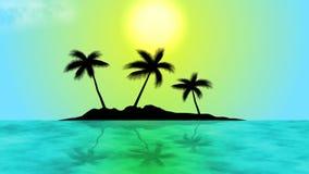 Isola con le palme stock footage
