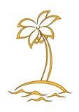 Isola con una palma Fotografie Stock