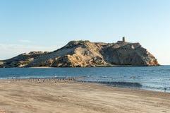 Isola con una torre Fotografia Stock