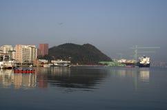 Isola Corea di Geoje del cantiere navale delle industrie pesanti di Sumsung immagini stock libere da diritti
