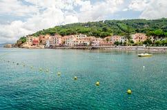 Isola d'Elba (意大利),马尔恰纳马里纳 图库摄影
