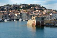 Isola d'Elba费拉约港意大利 库存图片