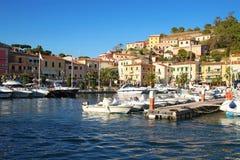 Isola d'elba -波尔图azzurro 免版税图库摄影