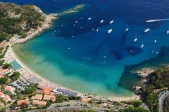 Isola d'Elba-Cavoli海滩 免版税库存照片