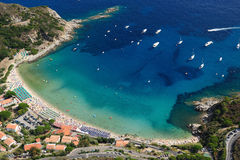 Isola d'Elba-Cavoli beach Royalty Free Stock Photos