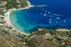 Isola d'Elba-Cavolistrand Arkivbilder