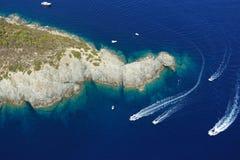 Isola d'Elba-Fetovaia falezy Zdjęcie Royalty Free
