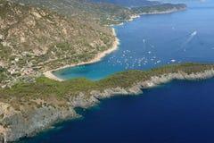 Isola d'Elba-Fetovaia plaża Fotografia Stock