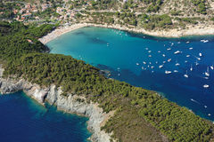 Isola d'Elba-Fetovaia plaża Obrazy Royalty Free