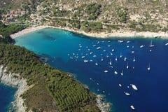 Isola d'Elba-Fetovaia plaża Obrazy Stock