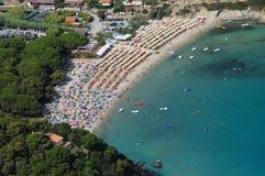 Isola d'Elba-Fetovaia plaża Obraz Royalty Free