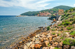 Isola d'Elba (Italy), Rio Marina. Town and bay (Tuscany stock photo
