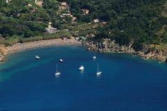 Isola d'Elba-Nisportino plaża Obraz Royalty Free