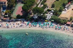 Isola d'Elba-Padulella plaża Zdjęcie Royalty Free