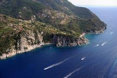 Isola d'Elba-Patresi baech en kustlijn Royalty-vrije Stock Fotografie