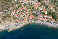 Isola d'Elba-Pomonte seasidetown Royalty-vrije Stock Foto's